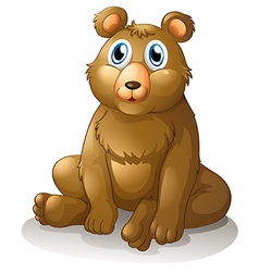 A big brown bear vector image vector image
