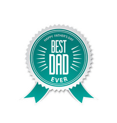 best dad award ribbon rosette vector image vector image