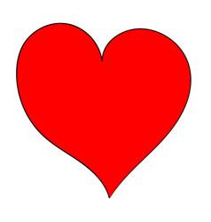 hand draw asymmetric heart vector image