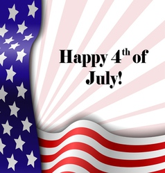 July 4 patriotic text frame vector image