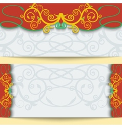 Set of greeting cards or invitations in east style vector image vector image