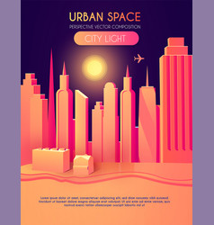 3d city concept urban background vector image