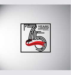 75 years anniversary logotype flat style vector