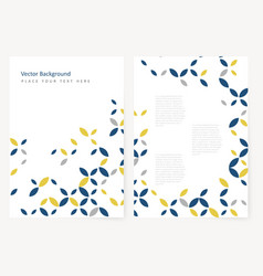 Abstract template flyer vector