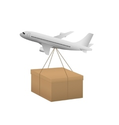 Air shipping concept vector image