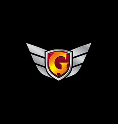 auto guard letter g icon logo design concept vector image