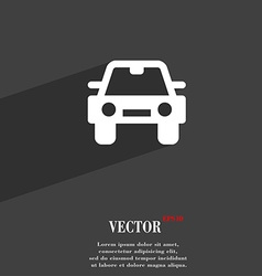 Auto icon symbol Flat modern web design with long vector image