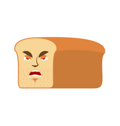 bread angry emoji piece of bread aggressive vector image