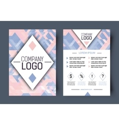 Brochure corporate blank template Front vector image