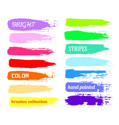 Brush strokes - color paint backdrop for text vector