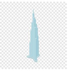 burj khalifa isometric icon vector image