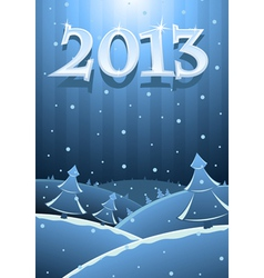 card new year vector image