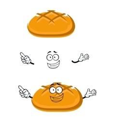 Cartoon isolated fresh wheat bread character vector