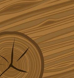 Cartoon woodgrain and wood rings vector