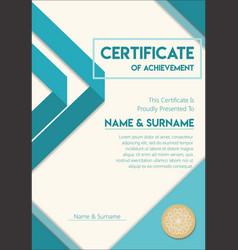 Certificate or diploma modern design template vector