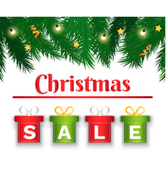 christmas sale special offer in store gift boxes vector image