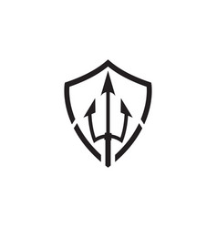 clean trident icon template design vector image