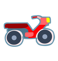 Colorful motorcycle toy vector