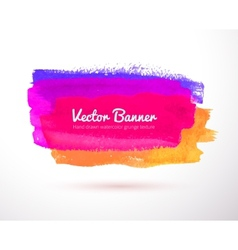 Colorful watercolor banner vector image