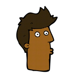 comic cartoon surprised man vector image