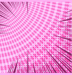 comic dynamic pink template vector image
