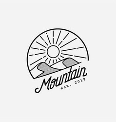 desert logo design template vector image