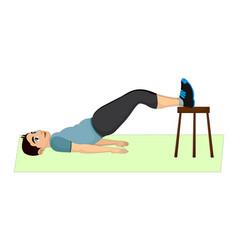 exercising man doing lifting vector image