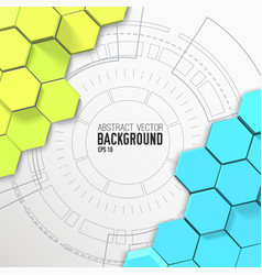 Futuristic abstract mosaic background vector