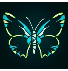 Green blue butterfly vector image