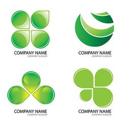 Green logo2jpg vector image