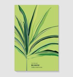 greenery palm invitation card template design vector image
