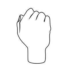 hand silhouette draw vector image