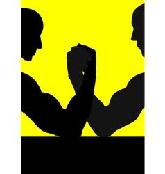 Hand Wrestling vector image