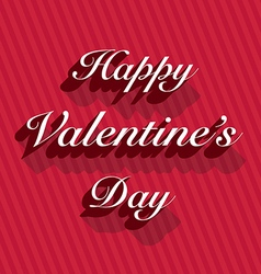 Happy valentines day lettering on stripes vector image