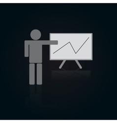 Icon of Person With Table and Graph vector image