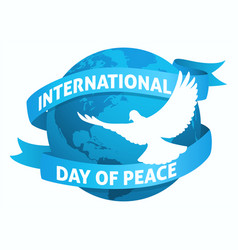 international day peace symbol vector image