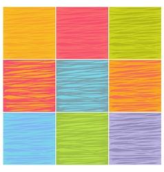 Irregular line patterns in multiple colors vector