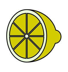 isolated cut lemon icon vector image