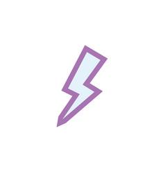 Isolated thunder flat icon lightning vector