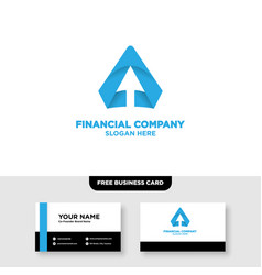 Letter a accounting logo design and business card vector