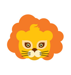 lion animal carnival mask orange king of beast vector image