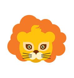 Lion animal carnival mask orange king of beast vector
