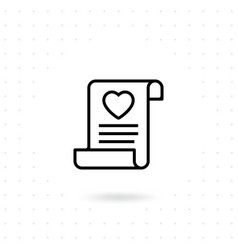 love invitation icon vector image
