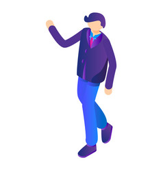 man say hello icon isometric style vector image