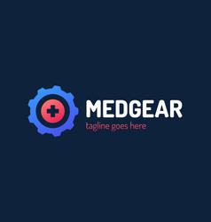 medical gear logo template this design use vector image