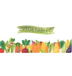 Organic vegetables banner vector