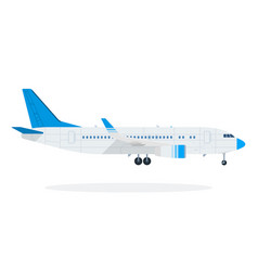 Passenger plane flat material design isolated vector