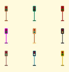 Pedestrian traffic light set vector
