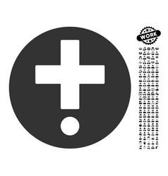 Pharmacy icon with professional bonus vector