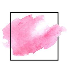 pink watercolor hand drawn stroke vector image